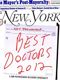 IN THE MEDIA: New York Best Doctors 2012