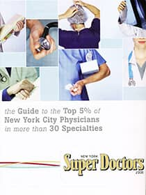 the Guide to the Top 5% New York Physicians in more than 30 Specialties