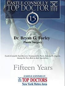 Castle Connoly Top Doctor Dr. Bryan G. Forley Plastic Surgery, Fifteen Years