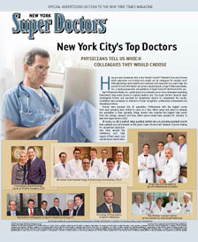 Blog - DR. FORLEY LISTED IN 2013 SUPER DOCTORS GUIDE TO TOP PHYSICIANS Photo Super Doctors New York City's Top Doctors