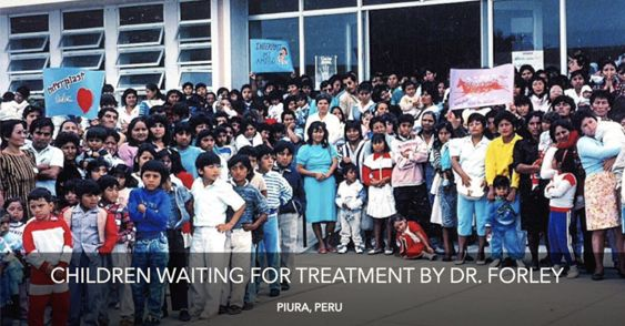 Watch Video: Children waiting for treatment by Dr. Forley