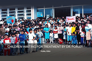 Children waiting for treatment by dr.Forley